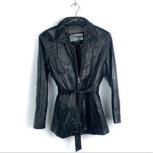 WILSONS LEATHER Leather Jacket Black